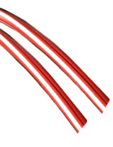 S/2-3 Candy Stripe Legshield Trim Red & white
